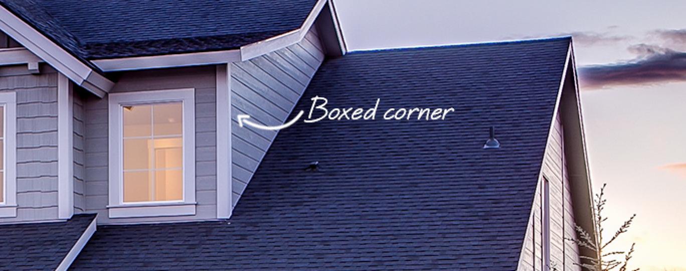 boxed corner